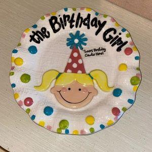 Mud Pie Birthday Plate!